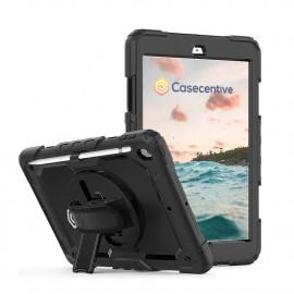 Casecentive Handstrap Pro - Case con impugnatura per iPad 10.2 2019 / 2020 - Nero