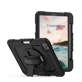 Casecentive Handstrap Pro - Case con impugnatura per iPad Pro 11'' 2021 - Nero