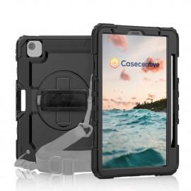 Casecentive Handstrap Pro - Case con impugnatura per iPad Air 10.9 2020 - Nero