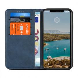 Casecentive Leren Wallet case iPhone XS blauw