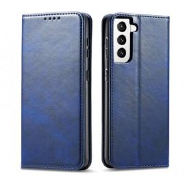 Casecentive Leren Wallet Luxe - Cover Samsung Galaxy S21 Plus - Blu