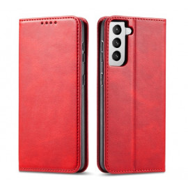 Casecentive Leren Wallet Luxe - Cover Samsung Galaxy S21 Plus - Rossa