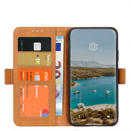 Casecentive Magnetische Leren Wallet case iPhone 12 / iPhone 12 Pro tan