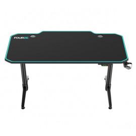 Fourze D1400-E verstelbare gaming desk groen / zwart