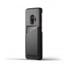 Mujjo Leather Wallet Case Galaxy S9 zwart