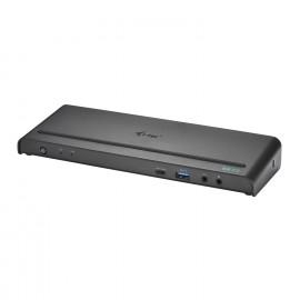 i-Tec USB A / USB-C  Triple 4K universele adapter - zwart
