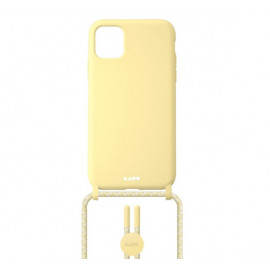 Laut Pastels case met koord iPhone 12 / iPhone 12 Pro geel