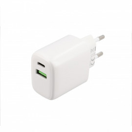 Musthavz Power Delivery - Caricatore 20 Watt USB-A e USB-C - Bianco