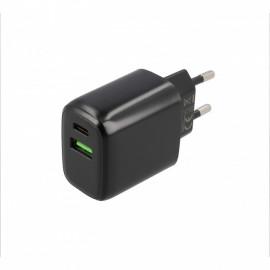 Musthavz Power Delivery - Caricatore 20 Watt USB-A e USB-C - Nero