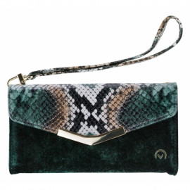 Mobilize 2-in-1 Gelly Velvet Clutch Apple iPhone 6/6S/7/8/SE (2020) Green Snake