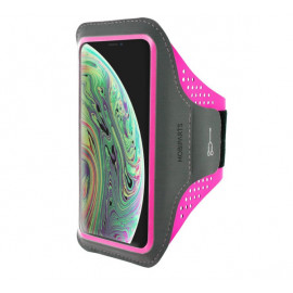 Mobiparts Comfort Fit Sport Armband Apple iPhone X Neon Pink