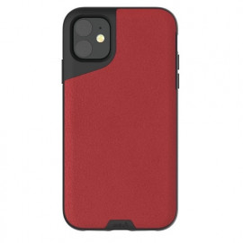 Mous Contour Leather iPhone 11 rood
