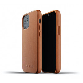 Mujjo Leather Case iPhone 12 Mini bruin