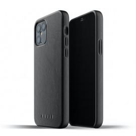 Mujjo Leather Case iPhone 12 / iPhone 12 Pro zwart
