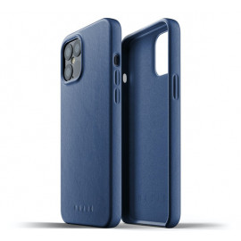 Mujjo Leather Case iPhone 12 Pro Max blauw
