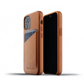 Mujjo Leather Wallet Case iPhone 12 Mini bruin