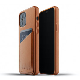 Mujjo Leather Wallet Case iPhone 12 / iPhone 12 Pro bruin