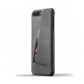 Mujjo Leather Wallet Case iPhone 7 Plus grijs