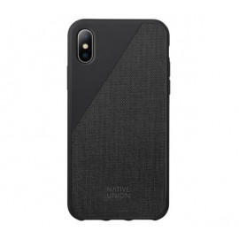 Native Union Clic Canvas case iPhone XS zwart