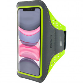 Mobiparts Comfort Fit Sport Armband Apple iPhone 11 Neon Groen