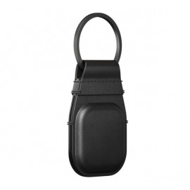 Nomad AirTag Leather Keychain zwart