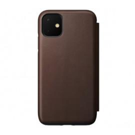 Nomad Rugged Folio Leather Case iPhone 11 bruin