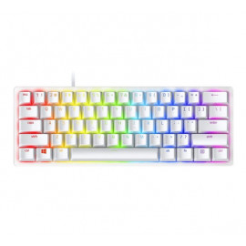 Razer Huntsman Mini gaming keyboard (optisch paars) wit