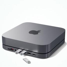 Satechi - Supporto & Hub Multiporta per Mac Mini - USB-C - Grigio scuro