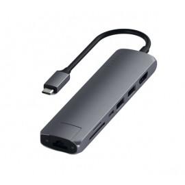 Satechi - Adattatore Multiporta USB-C Slim - Grigio scuro