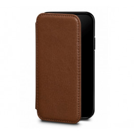 Sena Deen Leather Wallet Book for iPhone XS Max bruin