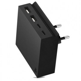 usbepower HIDE Mini+ 27W 4-in-1 wall charger zwart